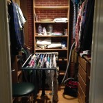 Our first grownup closet...in the hallway!